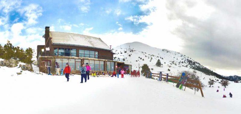 Στο χιονοδρομικό κέντρο Μαινάλου